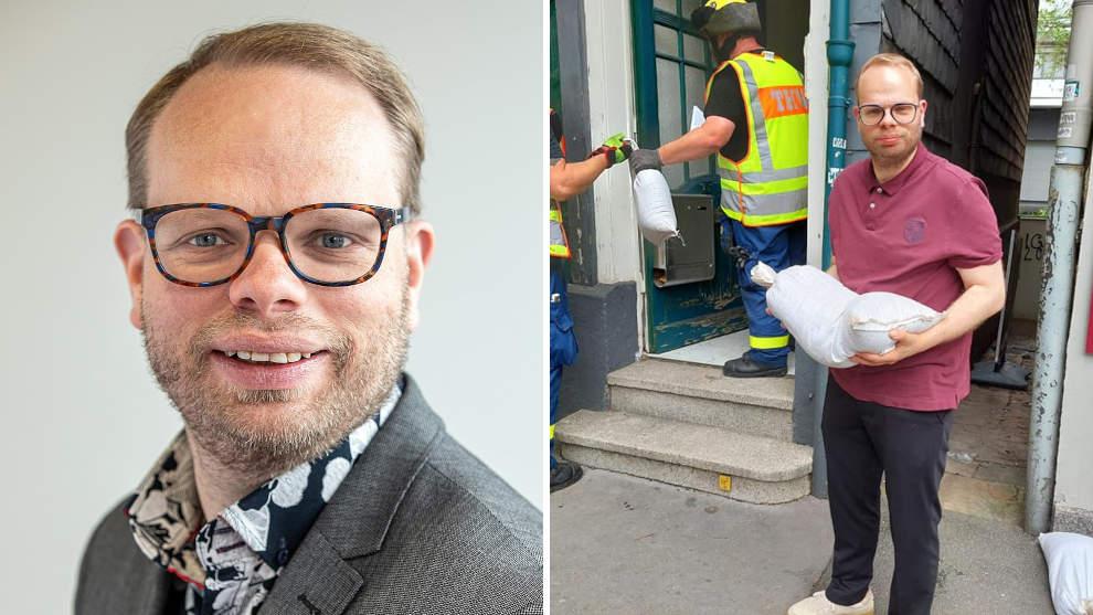 Karikatur einer im Mark verrotteten Politik: SPD-Politiker Helge Lindh und sein Sandsack